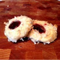 coconut raspberry thumbprint cookies